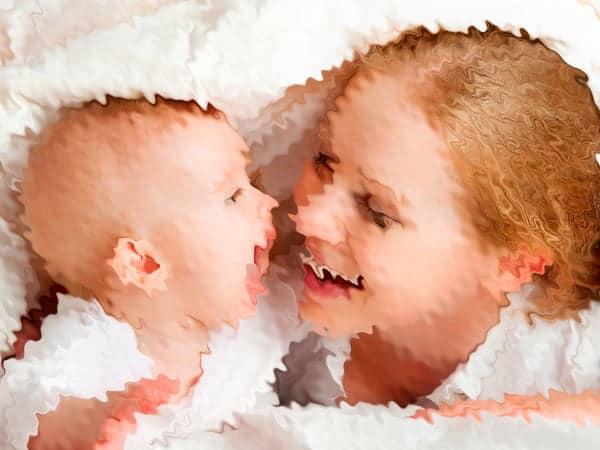 a visão do bebê 4 meses